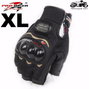 PRO-BIKER Sports Racing Short Gloves Gloves Motorcycle Racing Motorbike Motorcycle Fingerless Outdoor Sports Gloves XL (Black) Price Philippines