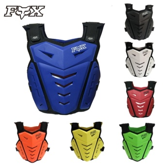 Professional Fox Armor Motocross Road Racing Motorcycle ArmorsJacket Protective Gear (Black)
