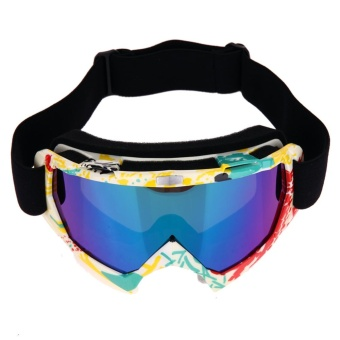 Professional Motocross Goggles Dirt Bike ATV Motorcycle Ski Glasses(Multicolor) - intl