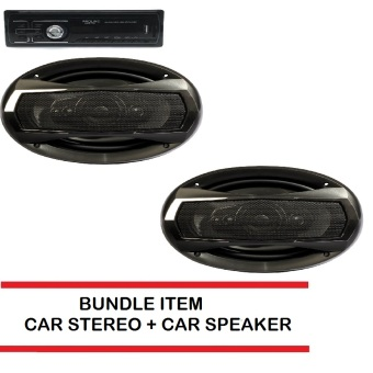 PROLINE GPX-89BT Car Stereo Bundle with Car Speaker TX-6995(Black)