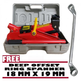 Prostar 2 Ton Floor Jack 300 mm Max Lift with Free Venus Wrenc 18 x19 mm
