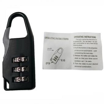 Prostar LUGGA1 Combination Luggage Lock 3 Digit Combination (Black)Set of 3 - 3