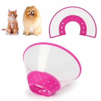 Protective Collar Funnel Pink Pet Dog Cat Anti-Bite Lick WoundHealing Safety - intl