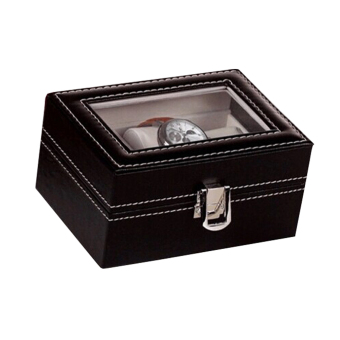 PU Leather Box 3 Grid Slots Watch Jewelry Display Storage OrganizerCase - Intl - 4