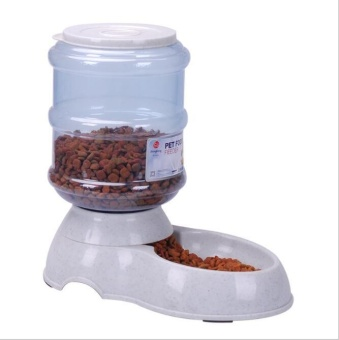 Pudding Self-feeding Feeder Pet Bowl Cats and Dogs Universal Blue -intl