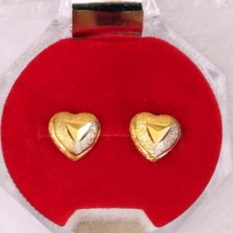 Pure 100% Saudi Gold 21K earrings heart design