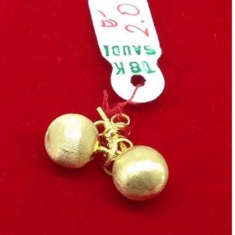 Pure Saudi Gold 18K apple earrings 2.0g