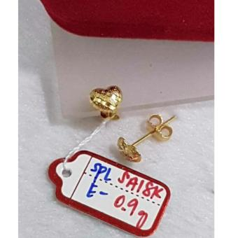 Pure Saudi Gold 18K heart earrings 0.9g