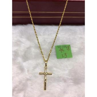 Pure Saudi Gold 18K Necklace Holy Cross Pendant 1.3g