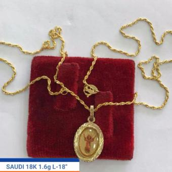 Pure Saudi Gold 18K Necklace Pendant Angel 1.6g