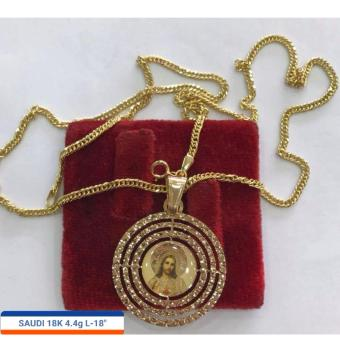 Pure Saudi Gold 18K Necklace with Pendant Father Jesus 4.4g