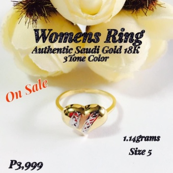 Pure Saudi Gold 18K Real Gold Womens Ring Pawnable ChristhasCollection Online Boutique Shoppe