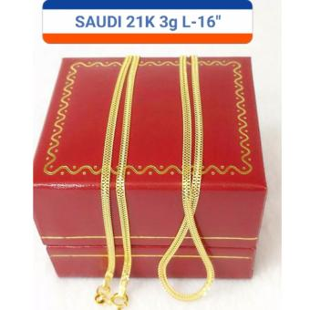 Pure Saudi Gold 21K Necklace 3.0g L-16inches