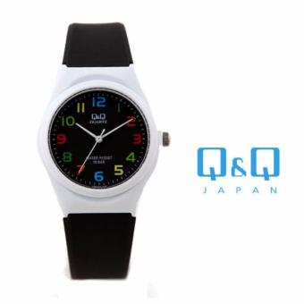 Q&Q by Citizen, Q&Q VQ86J012Y Black Strap White Case Multicolor Markings Women's Watch