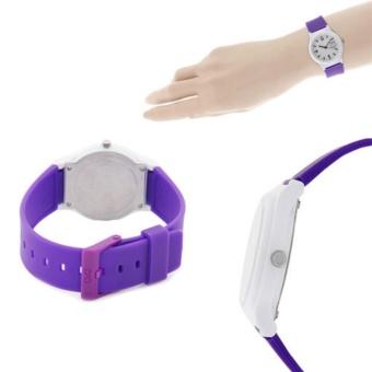 Q&Q by Citizen, QQ VP46J026Y Violet / Purple Rubber Strap White Case, Analog 100-Meter Water Resistant Men's and Women's Watch - 2