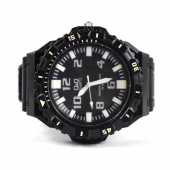 Q&Q Men's Rubber Strap Watch (Black)