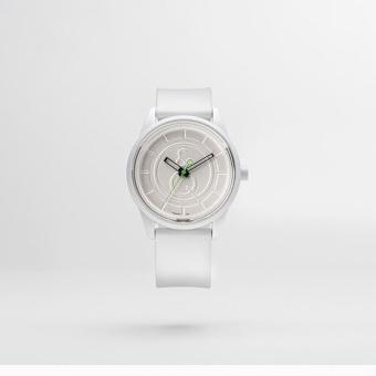 Q&Q SmileSolar White Rubber Strap Watch J001Y - 3