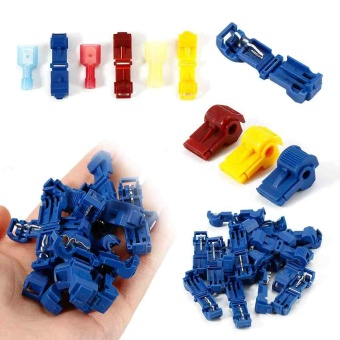 Quick Splice Wire Terminals 120 Pcs T-Tap Kit Male Spade WireConnectors Kit - intl - 3