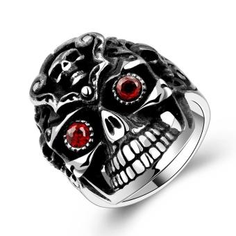 R192 316L Stainless Steel New Finger Ring For Man 8 - Intl