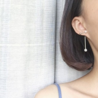 R341 Shishang female Korean celebrity inspired earrings pearl stud