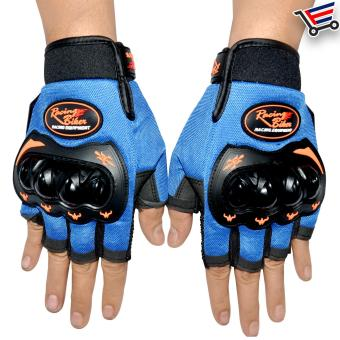 Racing Bike Motorcycle Sports Non Slip Racing Gloves Open Finger -M (Blue) Price Philippines