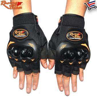 Racing Bike Outdoor Sports Anti-slip Racing Gloves Half Finger - M(Black) Price Philippines