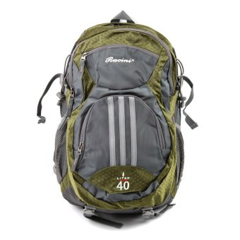 Racini 40-373 Mountaineering Backpack (Dark Gray/Mold Green)