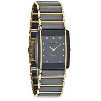 Rado Watches Integral Two - Sized Ceramic Bracelet Diamond Diamonds Swiss Quartz Men 's Watch R20282732 - intl