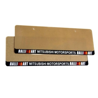Ralliart Plate Cover for Mitsubishi Cars (Pair)