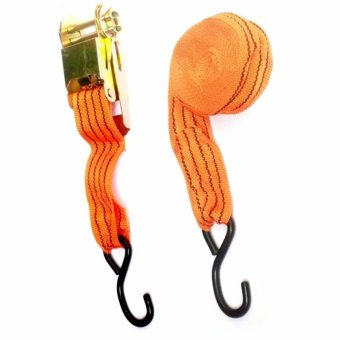 Ratchet Strap Tie-Down Tool for Vehicle Cargo heavy duty 10,000lb(Orange)