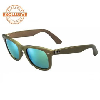 Ray-Ban Original Wayfarer Cosmo  Green Flash Sunglasses RB2140 611019   (50-22)