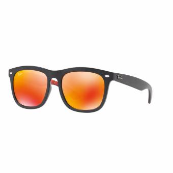 Ray-Ban Sunglasses Chinese New Year Limited Edition RB4260D - Shiny Black (62916Q) Size 57 Brown Mirror Orange