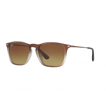 Ray-Ban Sunglasses Chris (F) RB4187F - Brown Shot On Black (622413)Size 54 Brown Gradient Dark Brown