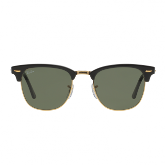 Ray-Ban Sunglasses Clubmaster RB3016 - Ebony/ Arista (W0365) Size 51 Crystal Green