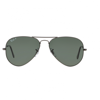 Ray-Ban Sunglasses Cockpit RB3362 - Gunmetal (004/58) Size 59Crystal Green Polarized - 2