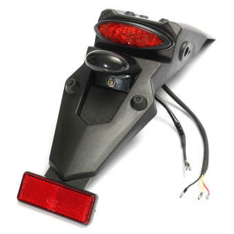Rear Fender Brake LED Tail Light Off-road MX Motocross Dual Sport Pit Dirt Bike - intl