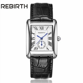 REBIRTH 2016 Brand New Luxury Watches Women Dress Watches GenuineLeather Band Golden Female Quartz Watch Ladies Wristwatch - intl Price Philippines