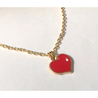 Red Heart pendant necklace gold dipped 5g - 4