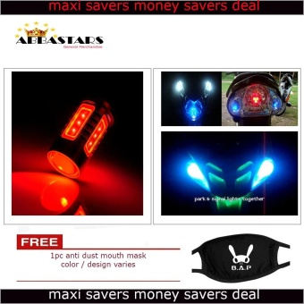 Red Motorcycle / Car LED Parking Lights for Kawaski Bajaj RouserRS200 Price Philippines