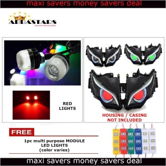 Red Motorcycle LED Light Eagle Eye DRL Light Bulb for Honda Wave R 100