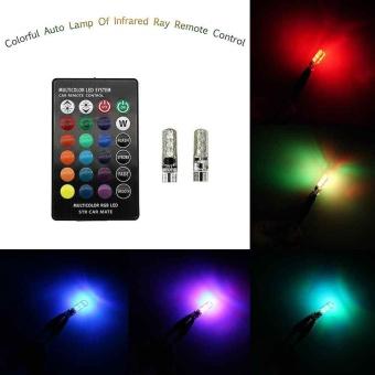 Remote control 5050-6 smd silicone RGB car LED bulb SMD side light bulbs - intl - 3