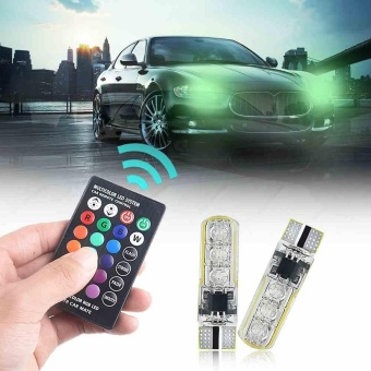 Remote control 5050-6 smd silicone RGB car LED bulb SMD side light bulbs - intl - 2