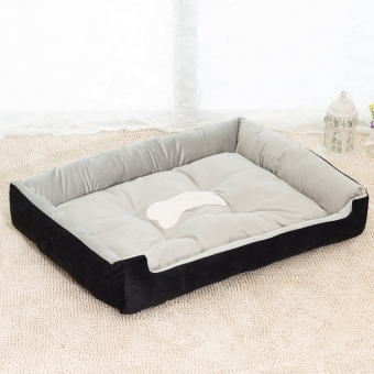 Removable Puppy Cat Dog Bed Cushion Blanket Kennel Pet HouseXXS(Black)