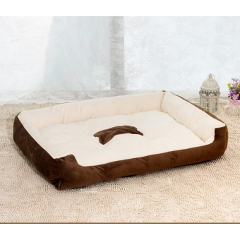Removable Puppy Cat Dog Bed Cushion Blanket Kennel Pet HouseXXS(Brown)