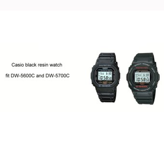 Replacement Matte Resin Strap (Black) for Casio DW-5600C, DW-5700Cand Variants - 2