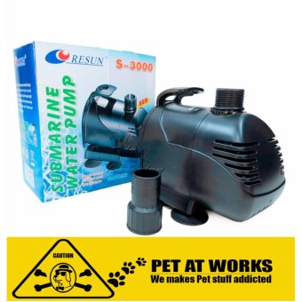 Resun Submarine Water Pump 60W (S3000) For Fish Pond, Fish TankAquarium, Salt Water Tank, Marine Tank, Planted Tank