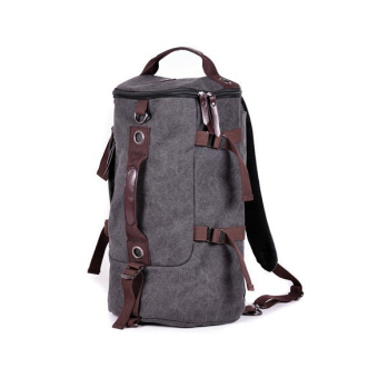 Retro Canvas Man Backpack Rucksack Travel Outdoor Bag Duffle Large Grey