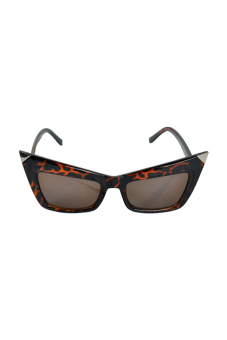 Retro Cat Eyes Shades Sunglasses (Leopard) - picture 2