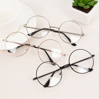 Retro Fashion Round Frame Metal Rimmed Reading Glasses EyeglassesUnisex (Gold) Price Philippines