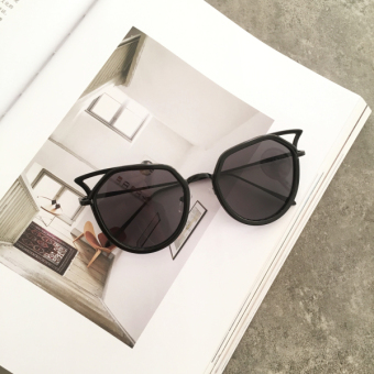 Retro female SHININGSTAR models round frame sunglasses New style sun mirror